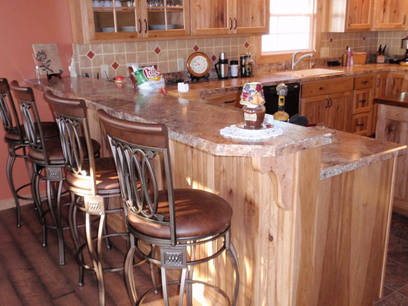 Rustic Hickory Kitchen Cabinets Barhorst Woodworks