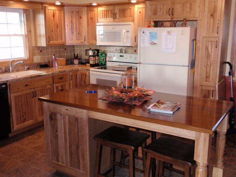 Rustic Hickory Kitchen Cabinets Barhorst Woodworks